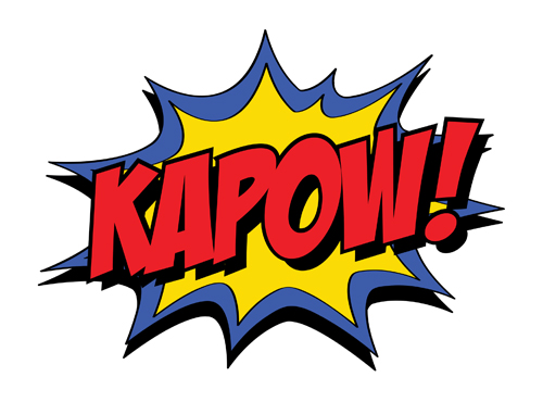 Superhero words superhero pow clipart 2