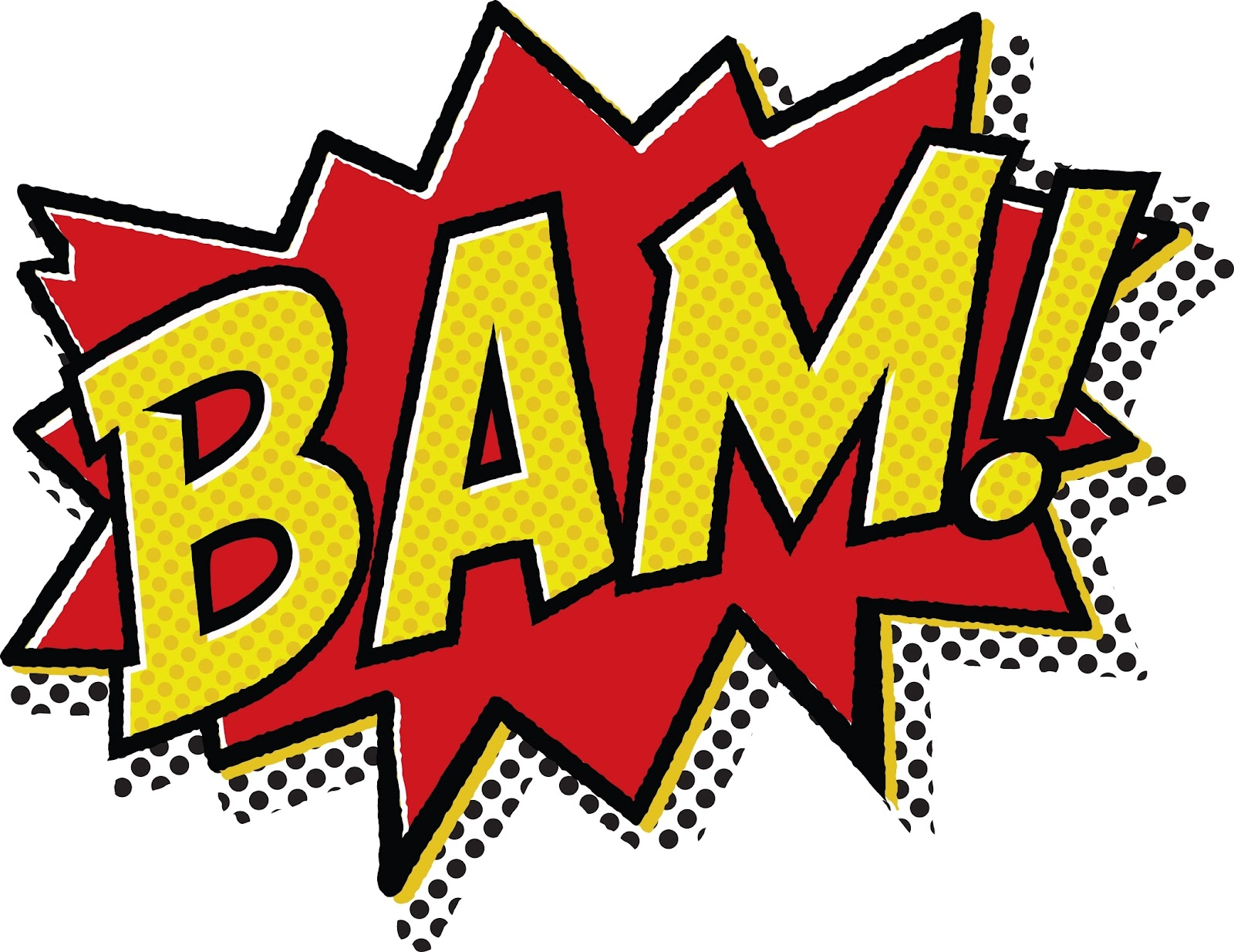 Superhero words superhero pow clipart 3