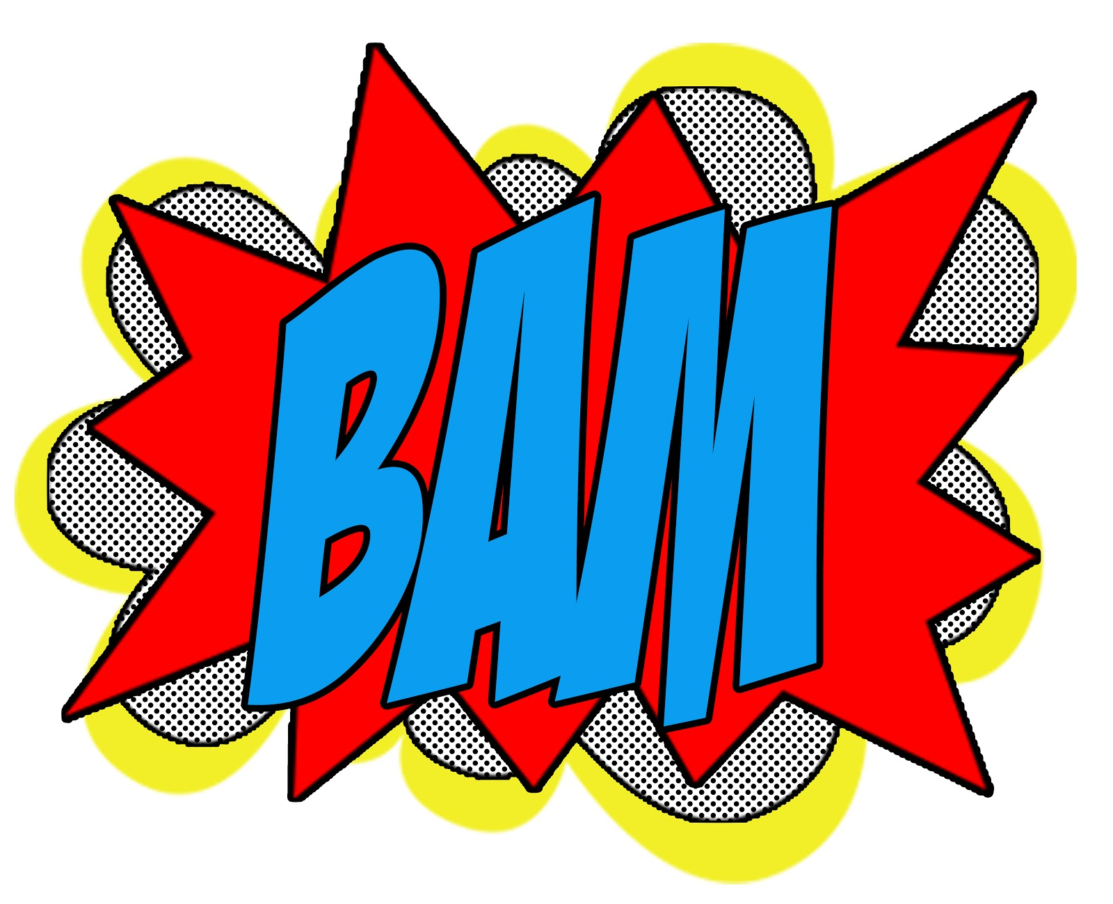 Superhero words superhero pow clipart
