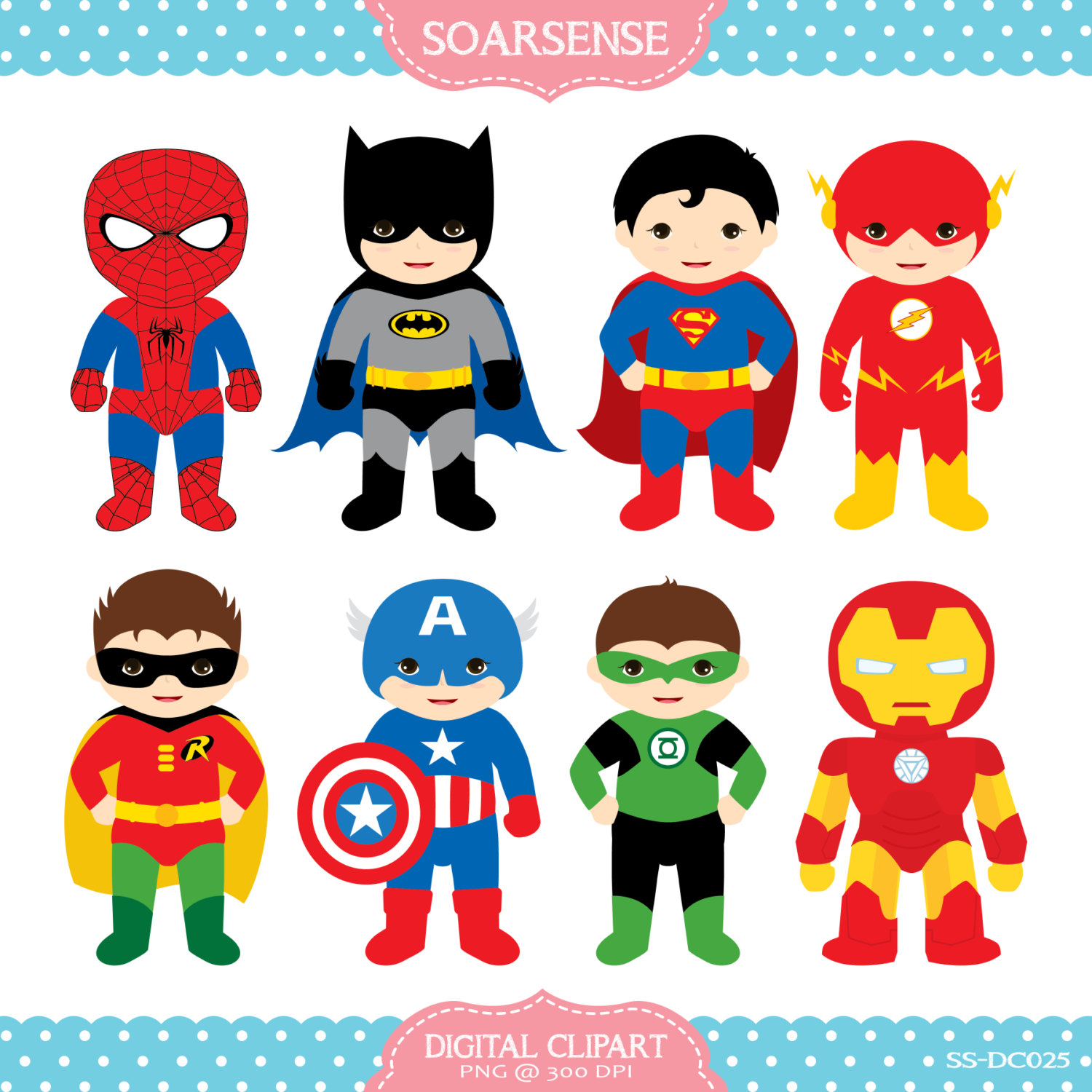 Superheroes Clipart 2 February .-Superheroes Clipart 2 February .-19