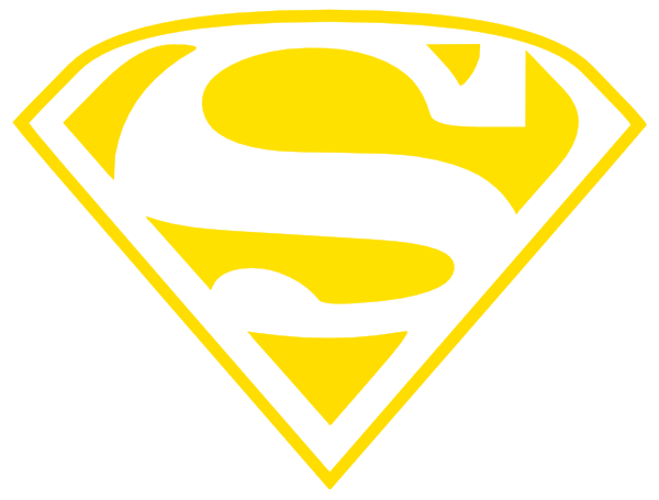 Download this image as: - Superman Logo Clipart