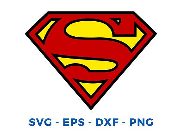 Superman svg - Superman clipart - Superman logo clip art digital download  svg, png, dxf, eps from ViDesignArt on Etsy Studio