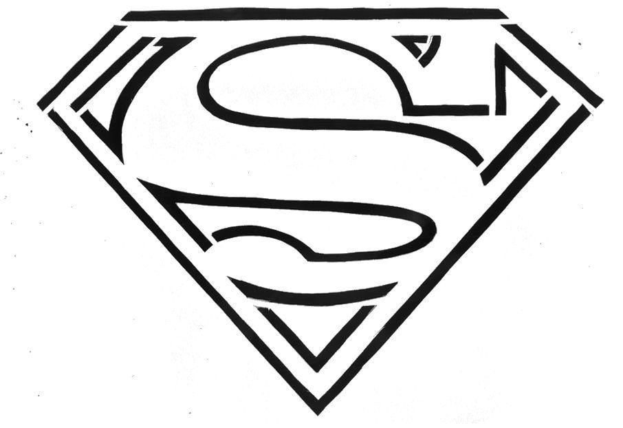 Superman Logo Stencil Superman