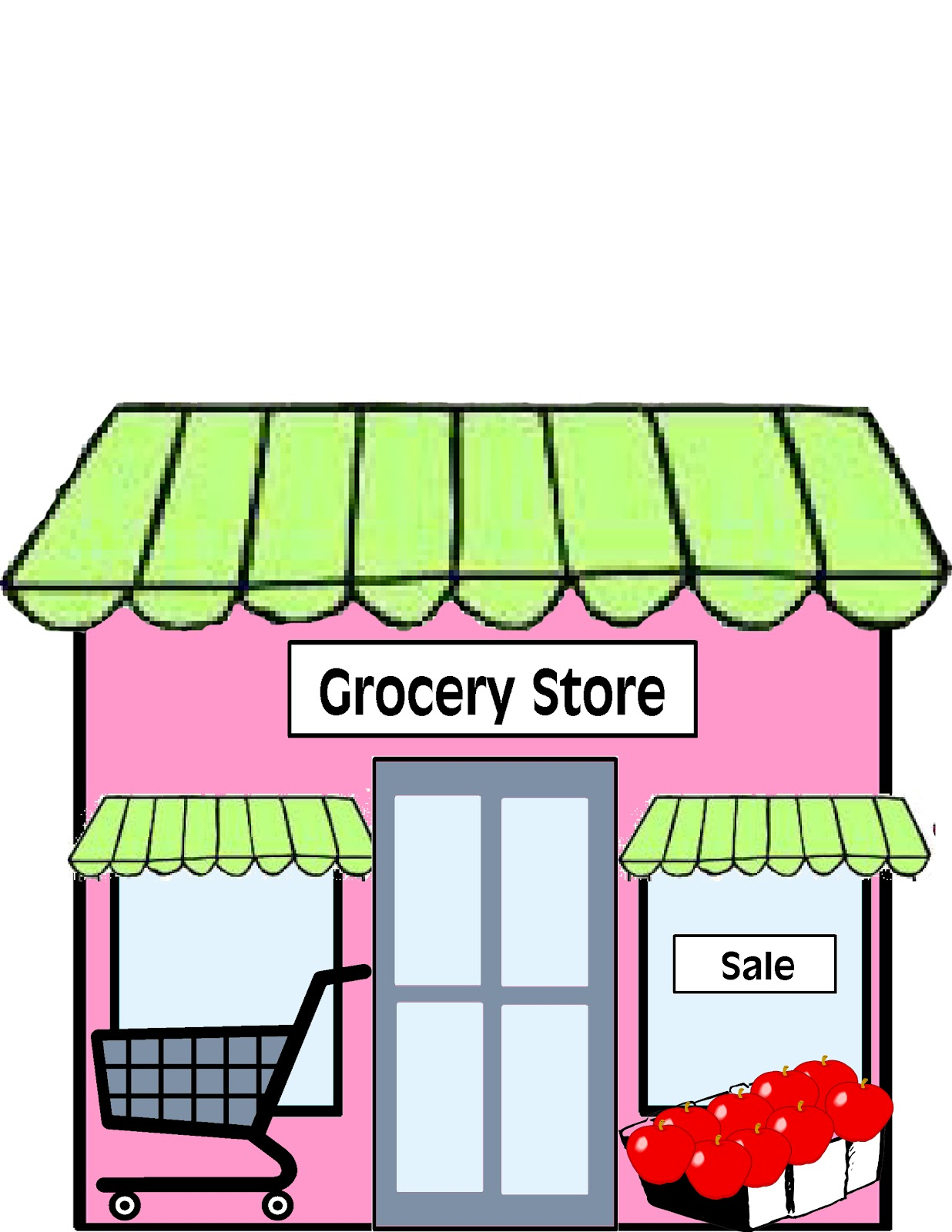 Supermarket Building Clipart