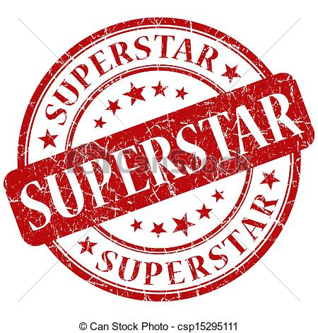 superstar stamp Clipartby ... - Super Star Clip Art