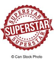 ... Superstar stamp - Superst - Super Star Clip Art