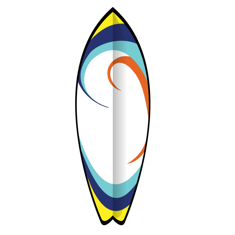 Surfboard Clip Art Illustrations Free Cl-Surfboard clip art illustrations free clipart images-6