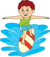 surfer holding surfboard clipart. Size: 72 Kb