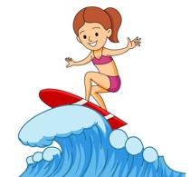Surfer Riding Large Wave Clipart Size: 2-Surfer Riding Large Wave Clipart Size: 203 Kb-6