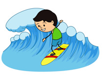 Surfer Riding Large Wave Clipart Size: 2-Surfer Riding Large Wave Clipart Size: 203 Kb-10