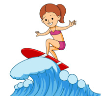Surfer Riding Large Wave Clipart Size: 2-Surfer Riding Large Wave Clipart Size: 203 Kb-2