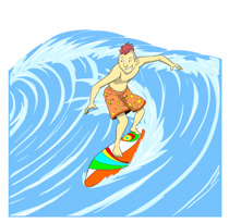 Surfer Riding Large Wave Clipart Size: 2-Surfer Riding Large Wave Clipart Size: 203 Kb-5