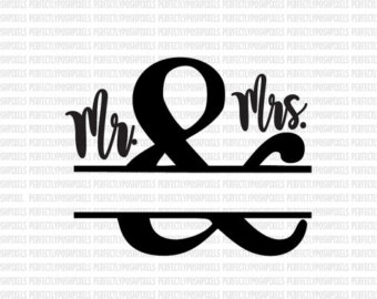 SVG Wedding Sign Couples Sign Mr. Mrs. Sign Clip Art Cut Files SVG Clip Art Heat Transfer Vinyl Wedding Parties HTV iron on decal