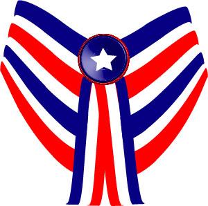 Blue flag banner clipart: patriotic swag banner clip art