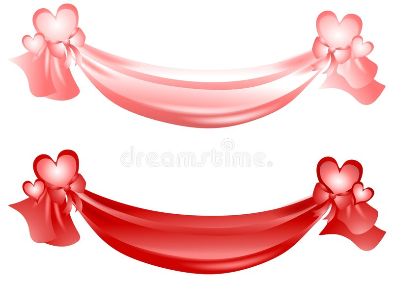Download Valentineu0027s Day Swag Ribbons And Bows Stock Illustration -  Illustration of clipart, swag: