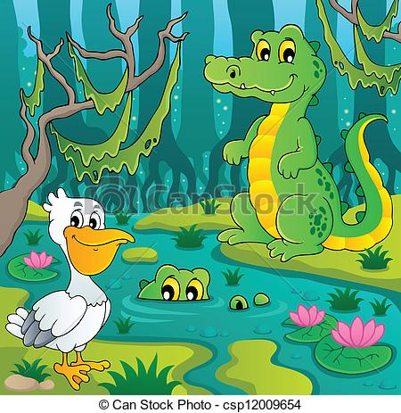 ... Swamp theme image 3 - vector illustration.