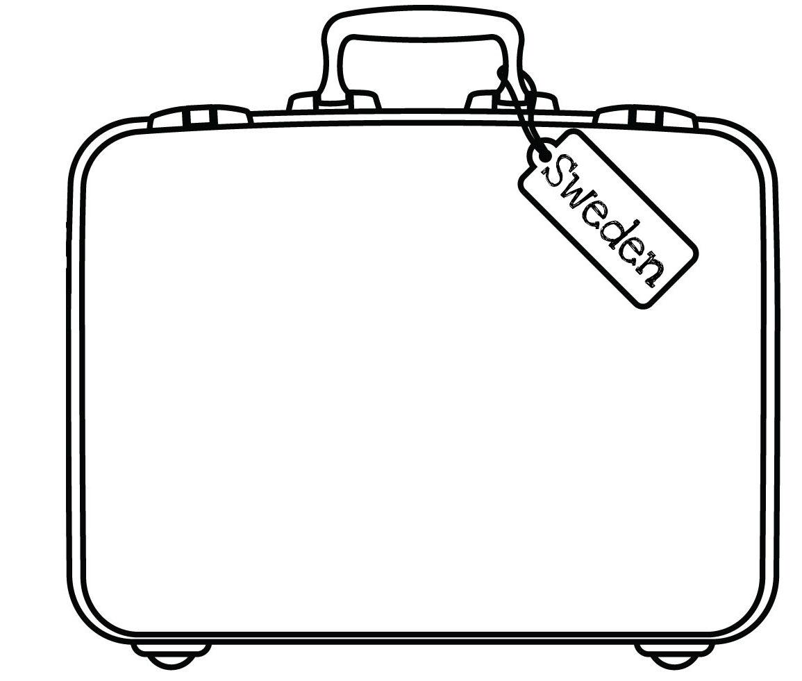 Sweden Suitcase Free Images At Clker Com Vector Clip Art Online