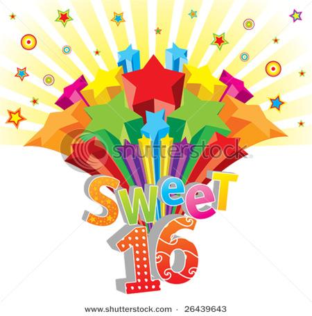 sweet 16 clip art (7078