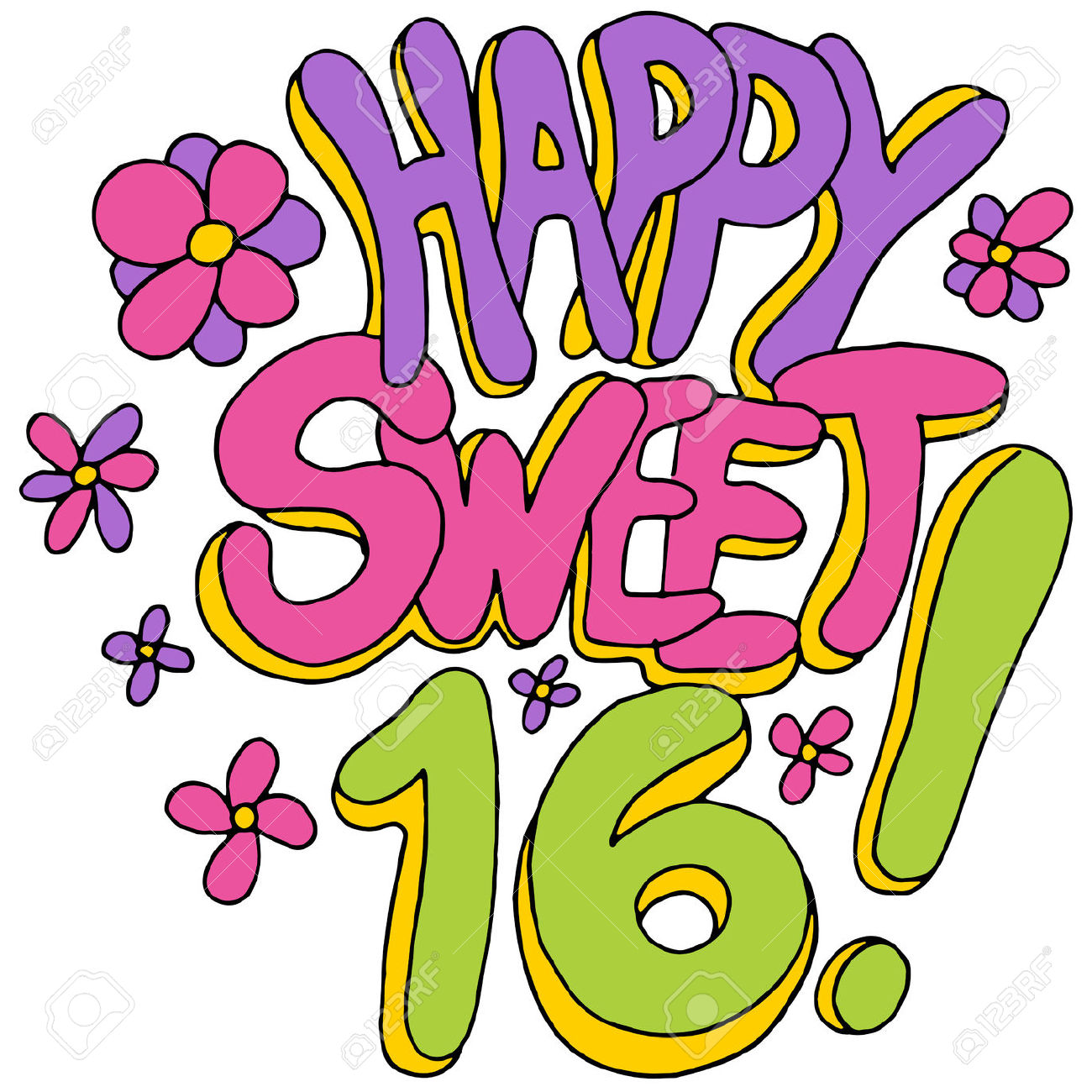 Sweet 16 Clip Art ... Resolut - Sweet 16 Clip Art