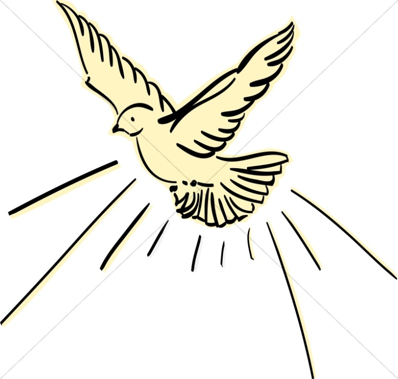 Sweet Dove Clipart u0026middot; Yellow Dove Flying