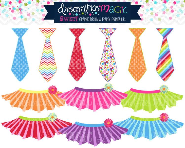 Sweet Rainbow Tutus And Ties- Clipart Fo-Sweet Rainbow Tutus and Ties- Clipart for Personal or Commercial Use-11