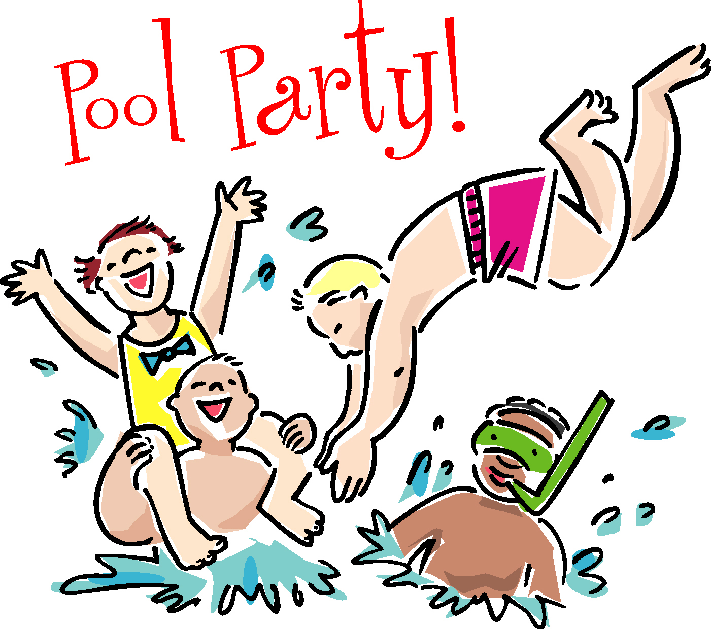 swimming party clipart-swimming party clipart-7