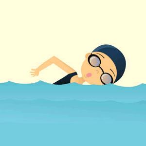 Swimming boy swimmer free .