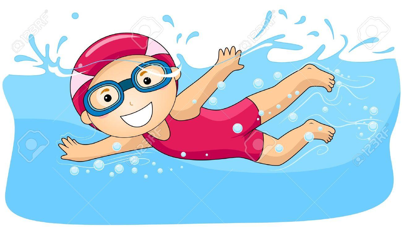 swimming clipart id-51844 - Kids Swimming Clipart