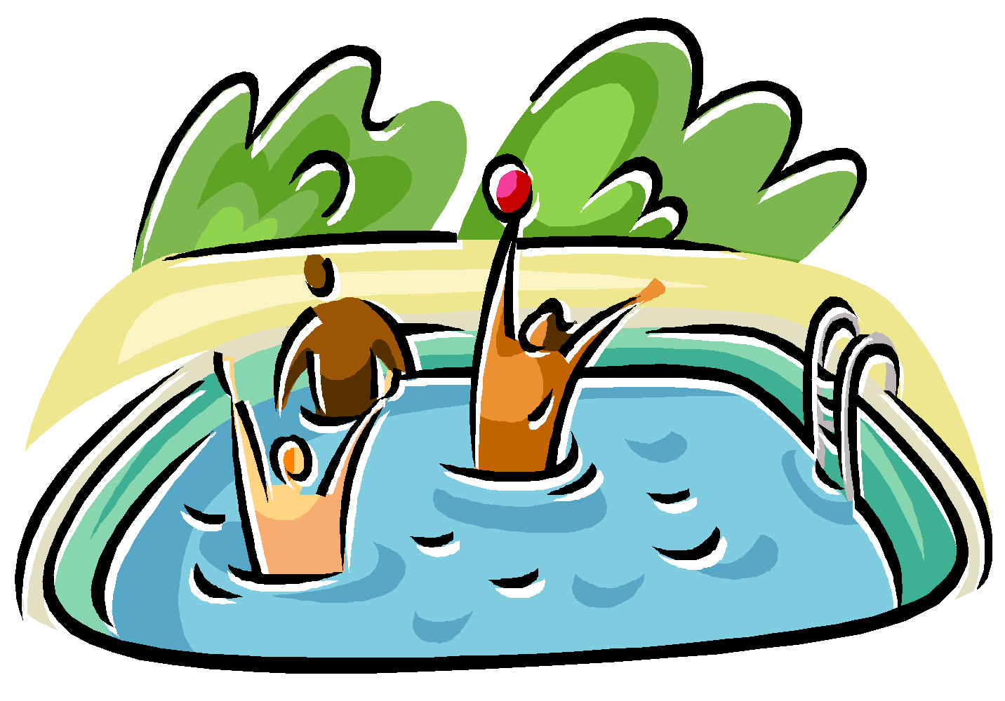 Swimming In A Pool Clipart Cl - Swimming Pool Clipart