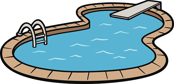 swimming pool vector art .