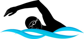 Swimming swimmer vector clip art freevectors