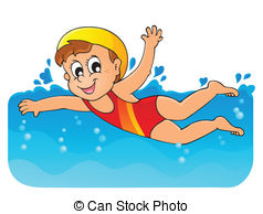 ... Swimming theme image 1 - eps10 vector illustration.