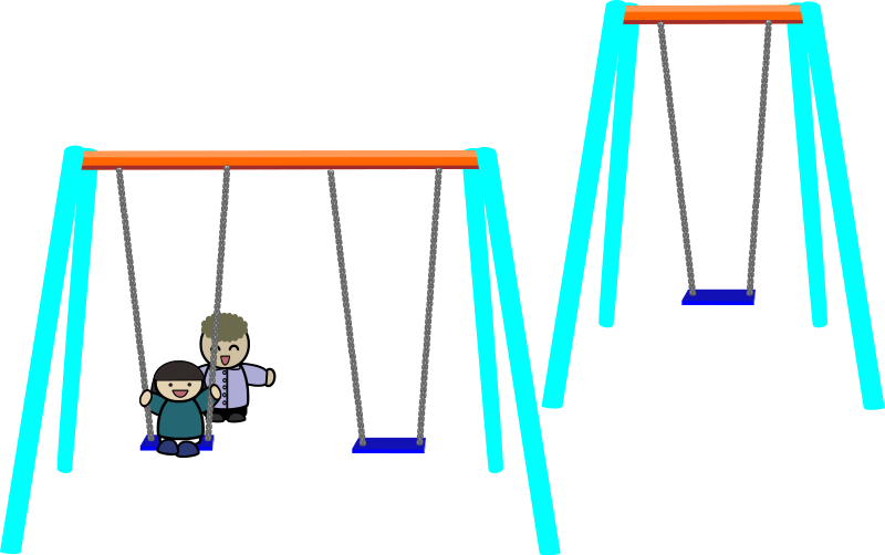 swing set clipart