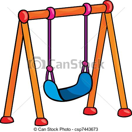 swing - garden swing cartoon illustratio-swing - garden swing cartoon illustration-0