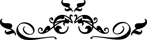 Swirl Black Filigree clip art .-Swirl Black Filigree clip art .-7