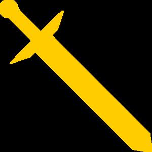 Gold Sword Clip Art