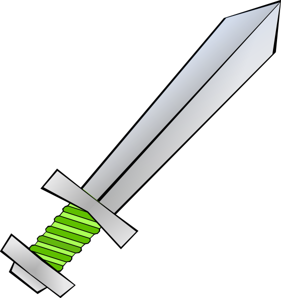 Green Sword Clip Art at Clker clipartlook.com - vector clip art online, royalty free u0026  public domain
