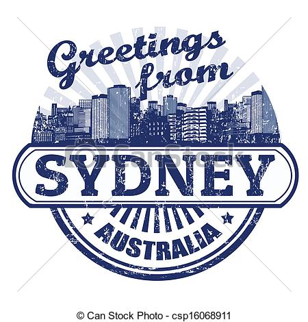 Greetings from Sydney stamp - csp16068911