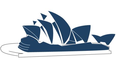 Sydney Opera House Line Art