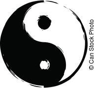 ... Symbol of yin-yang - Black and white symbol of yin-yang.