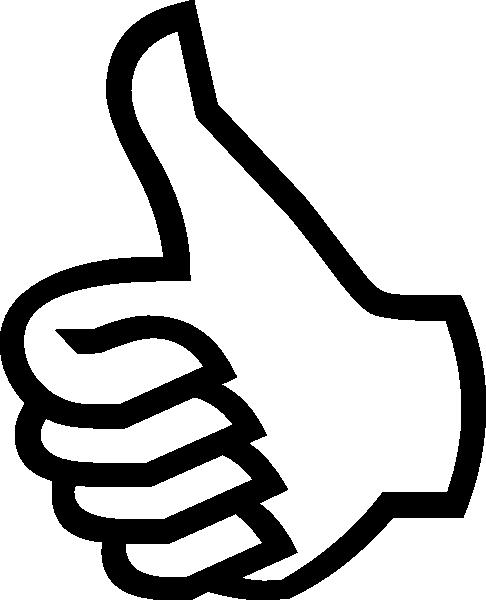 Symbol thumbs up clip art at vector clip art