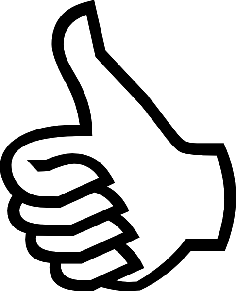 Symbol thumbs up clip art at vector clip art