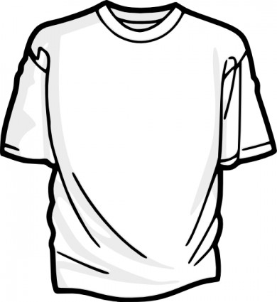 T shirt blank shirt clip art free vector in open office drawing svg