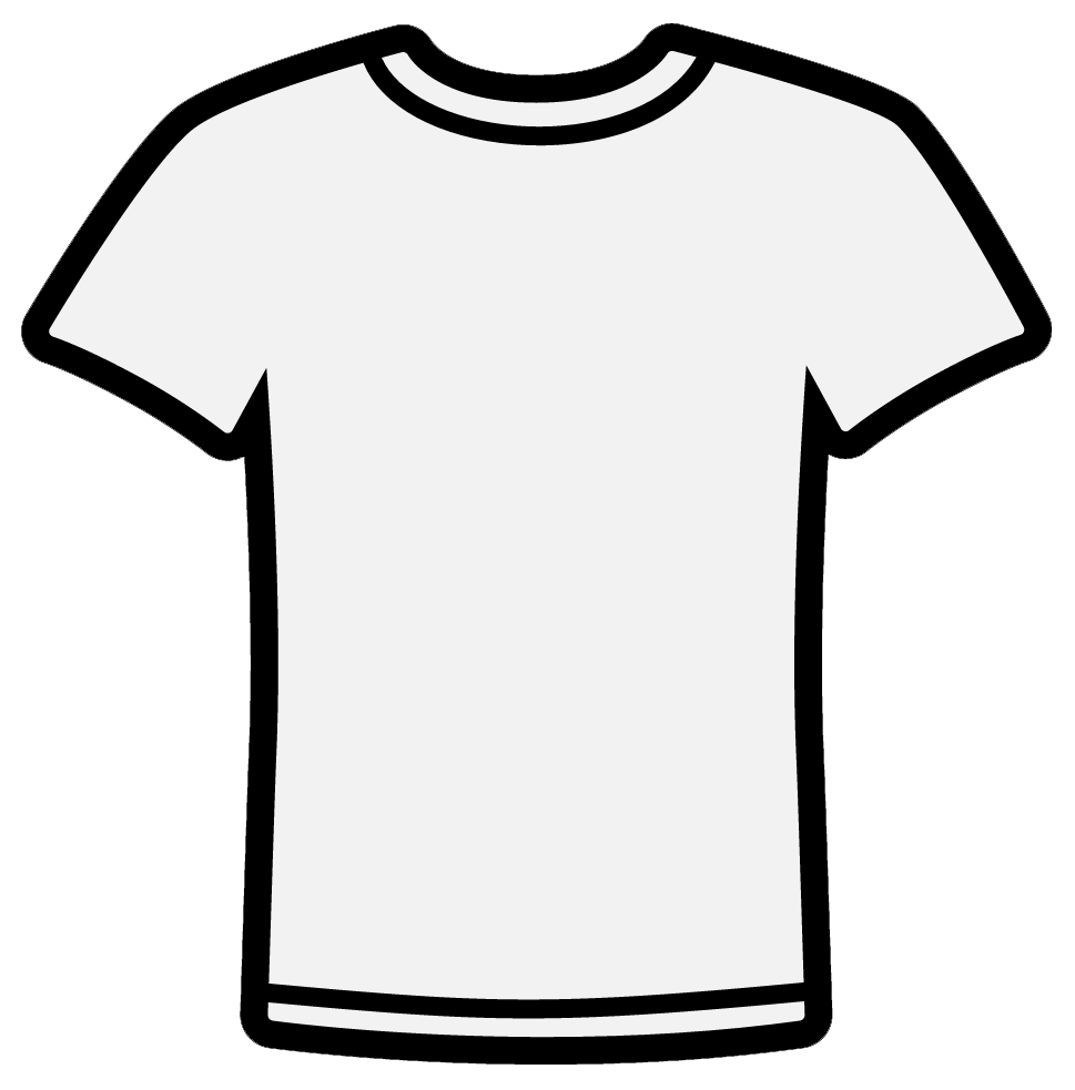 ... Clipart t shirt outline .