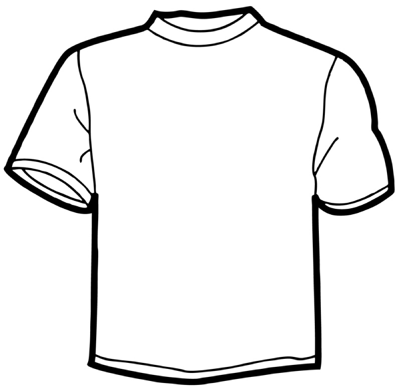 ... T-shirt Outline Clipart ...