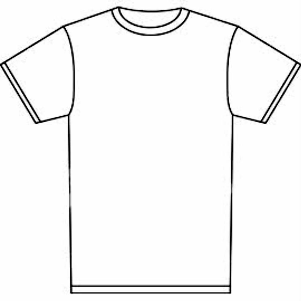 ... T-shirt Outline Clipart ...