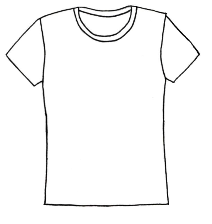 T shirt shirt outline clip art .