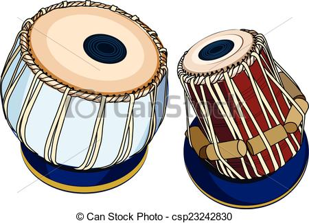 Indian musical instruments -  - Tabla Clipart