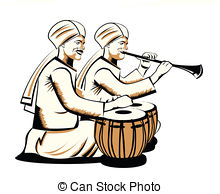 . ClipartLook.com indian musical performers - Two men playing musical. ClipartLook.com ClipartLook.com