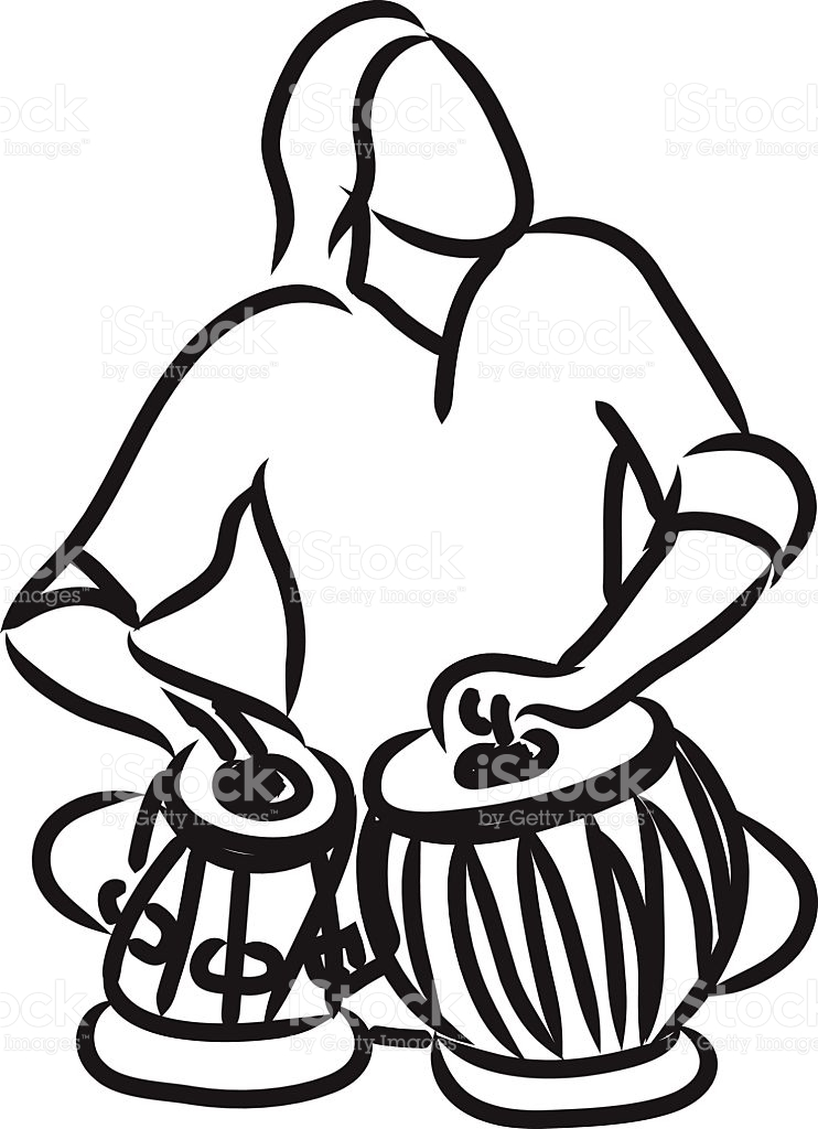 Indian musician playing tabla royalty-free indian musician playing tabla  stock vector art u0026amp;